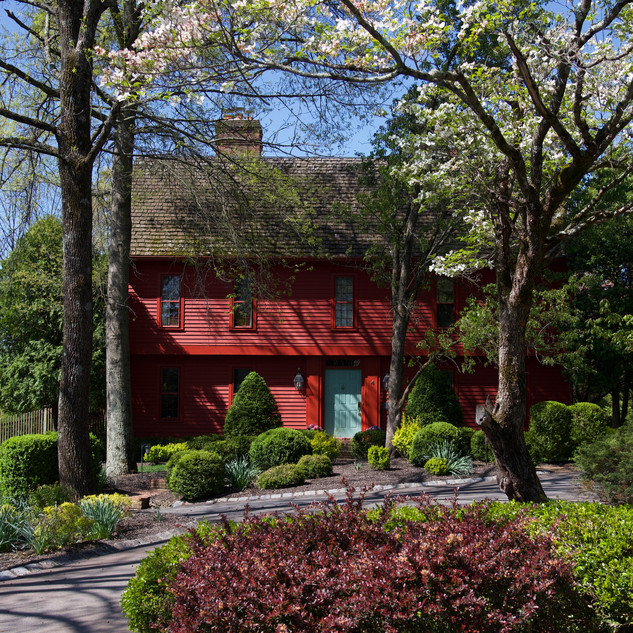 Front View of Big Red House