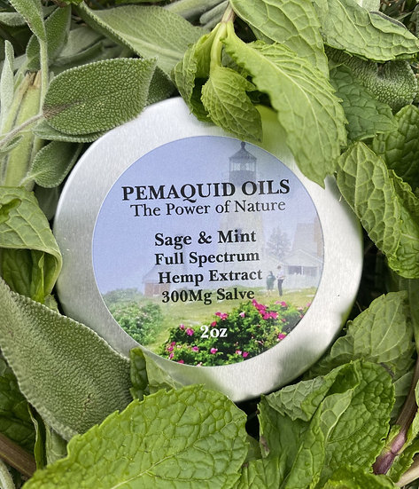 Sage & Mint Full Spectrum Hemp Extract Salve (300mg)