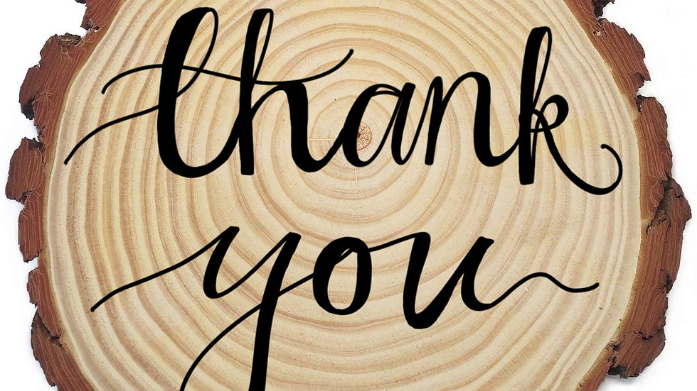 Wooden Thank You Ornaments