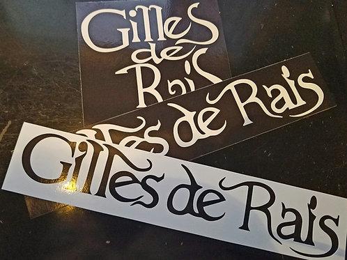 Gilles de Rais 復刻ステッカー3種セット