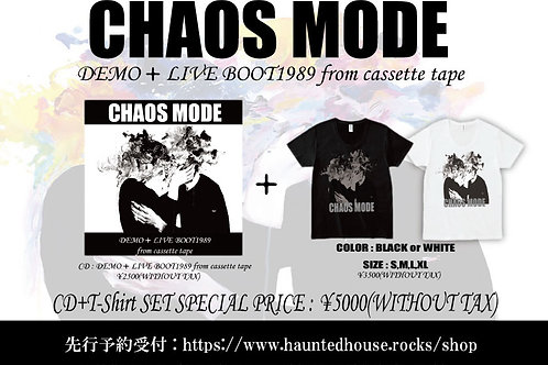 CHAOS MODE / DEMO+LIVE BOOT1989 from cassette tape+限定Tシャツ