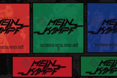 MEIN KAMPF / DEATHRASH METAL NEVER DIE!! 1&2&3+STICKER SET