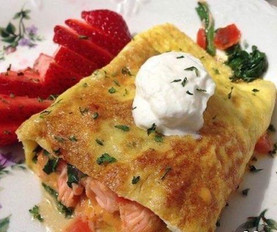 OMELETTE WITH SALMON