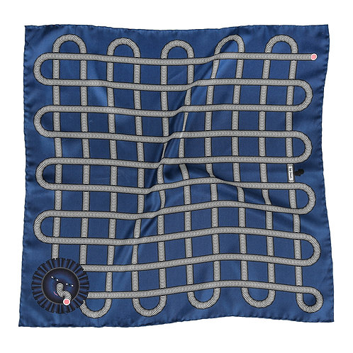 Blue Grid Pocket