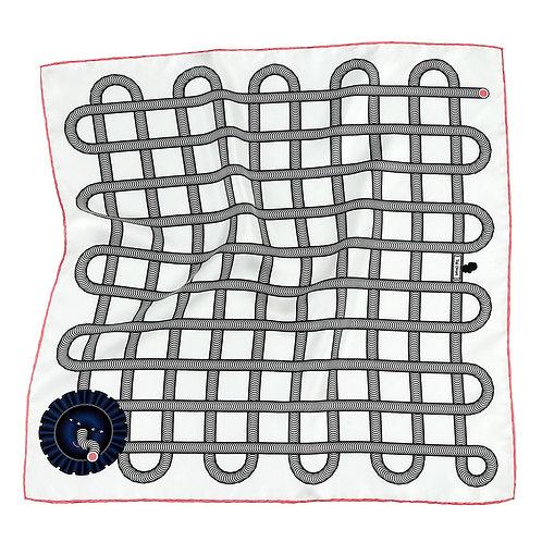 White Grid Pocket