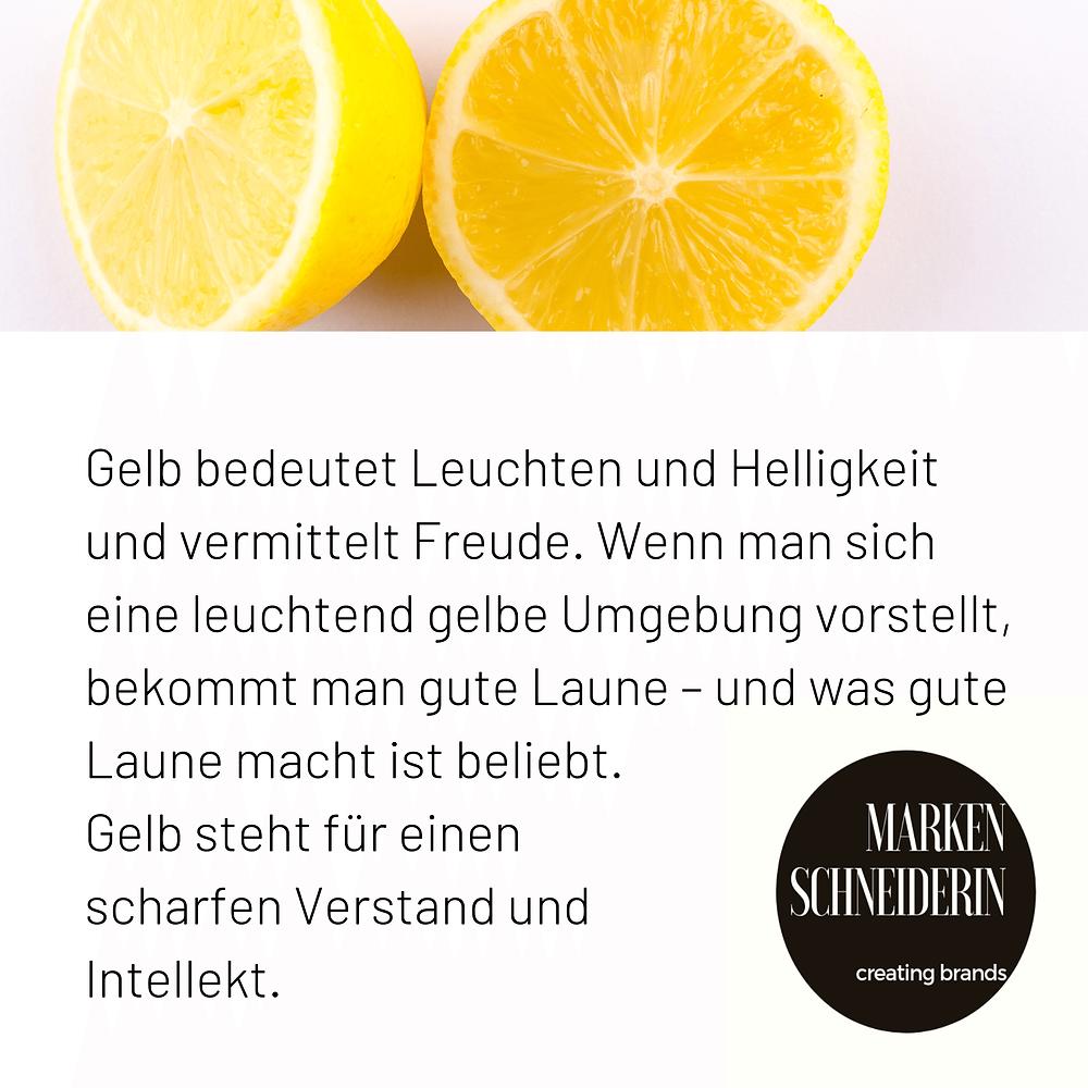 Zitronengelb macht gute Laune