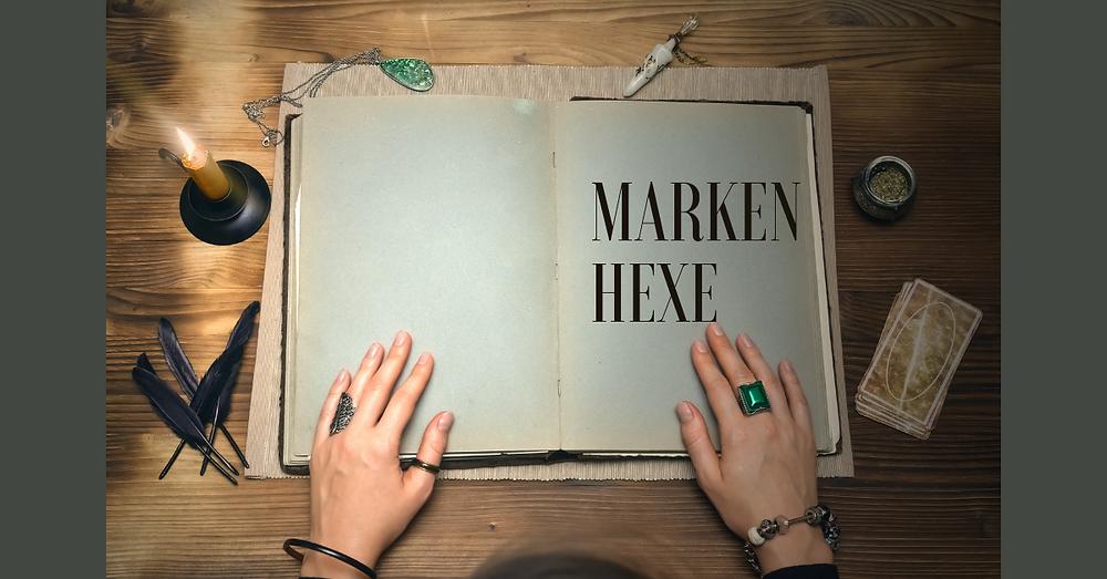 Hexenbuch Markenhexe Tarotkarten Hände Ring