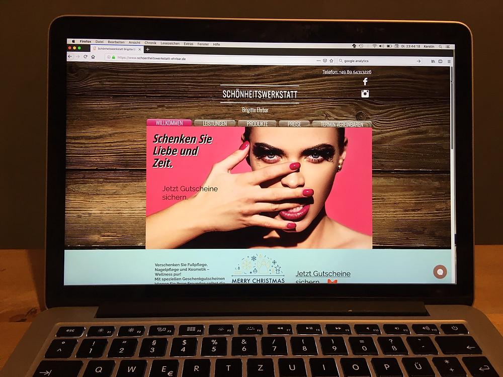 Website Schönheitswerkstatt Puchheim Schneiderin Gröbenzell Startseite