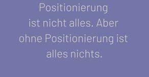Unternehmens Positionierung