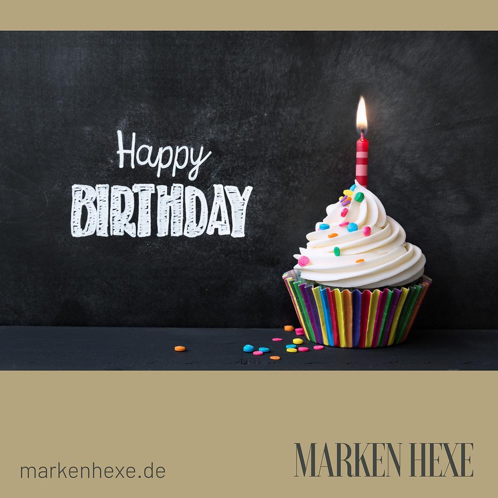 Markenhexe Geburtstag Marketing in München feiert