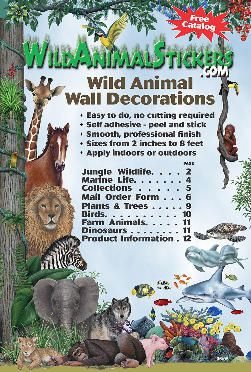 Wild Animal Wall Stickers Catalog