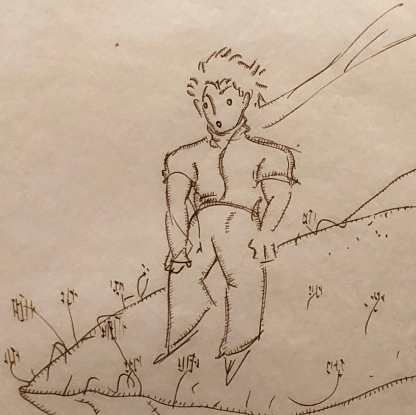 A close-up of the Little Prince