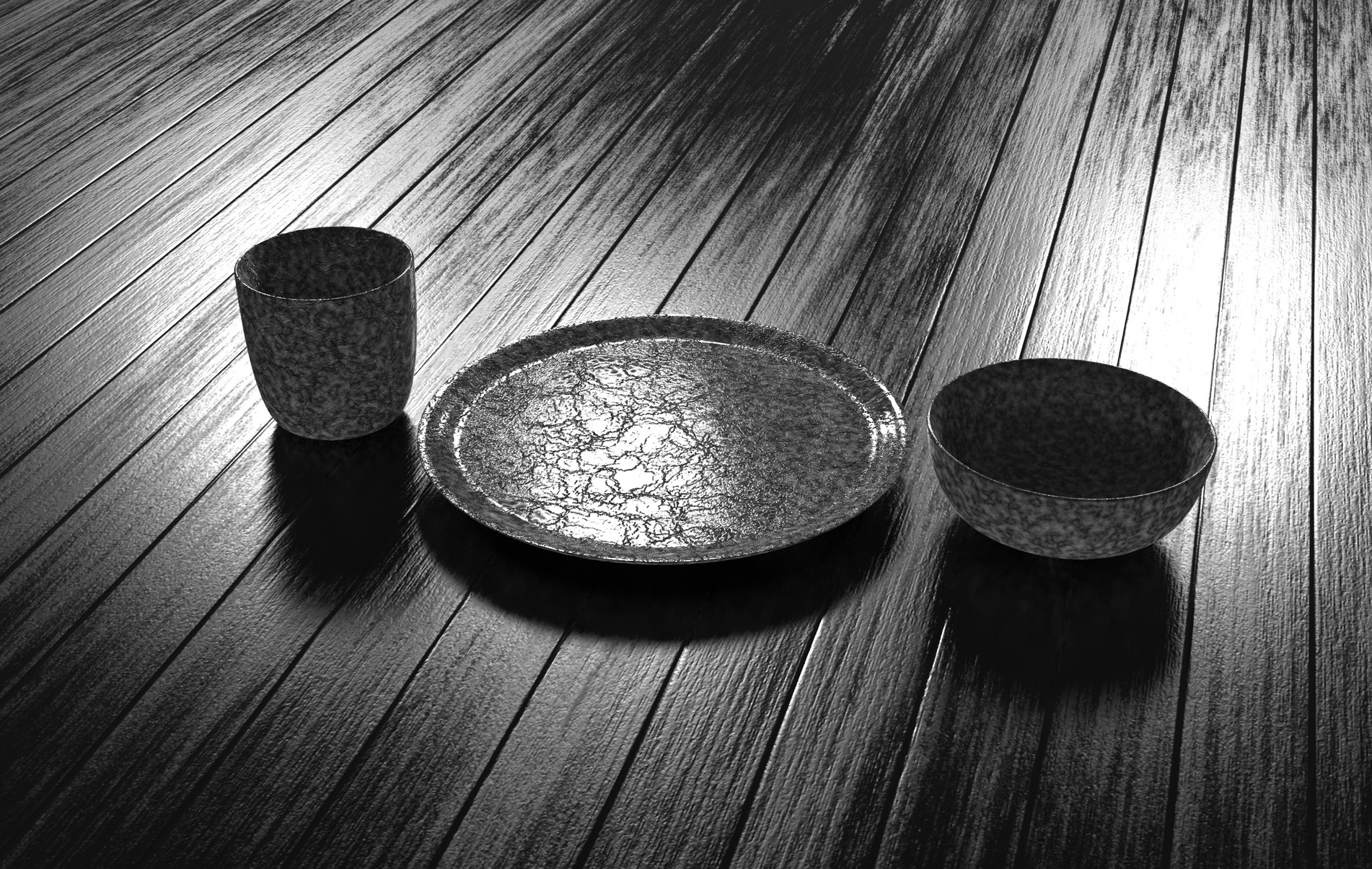 Plate, Bowl, Cup