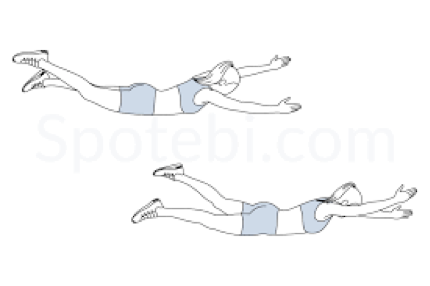 swimmer exercise back pain