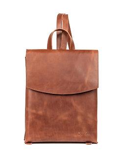 Рюкзак OFTA из натуральной рыже-коричневой кожи