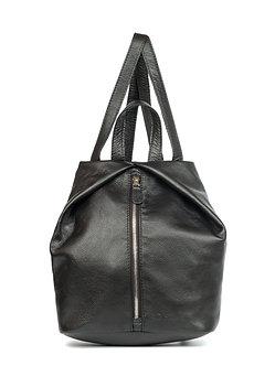 Рюкзак OFTA из натуральной кожи черный