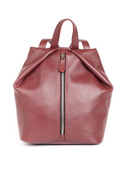 Рюкзак OFTA из натуральной бордовой кожи