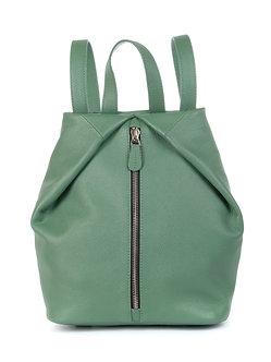Рюкзак OFTA из натуральной зеленой кожи