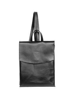 Рюкзак черный  из натуральной кожи