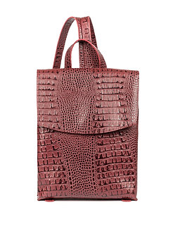 Рюкзак Boti из натуральной бордовой кожи