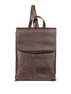 Рюкзак OFTA из натуральной темно-коричневой кожи