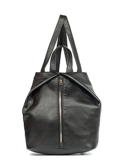 Рюкзак Ofta черный  из натуральной кожи