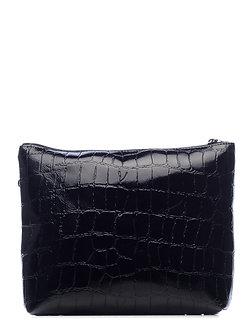 Сумка кросс-боди Boti Loreto из черной кожи фактурой под крокодил