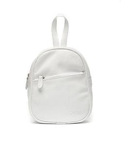 Рюкзак Mini белый из натуральной кожи