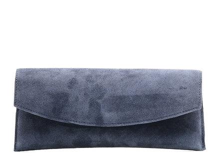Клатч Boti  из натуральной серо-фиолетовой замши