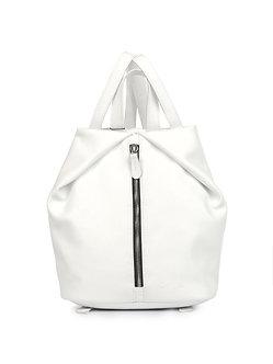 Рюкзак Ofta белый из натуральной кожи