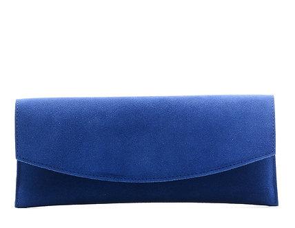 Клатч Boti  из натуральной синей замши