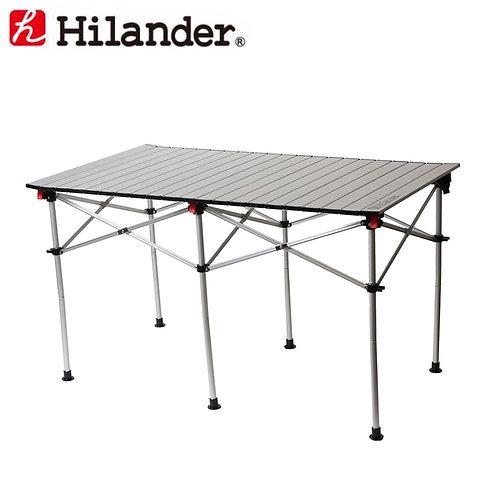 ハイランダー アルミロールテーブル 124×70cm