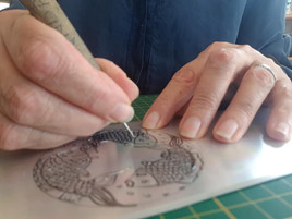 Creating drypoint plate