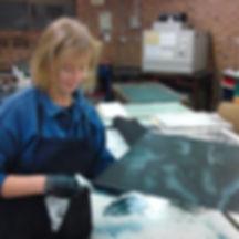 Amanda Donohue printing intaglio