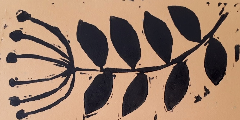 Fun with lino at Studio 4 Art - 21st August