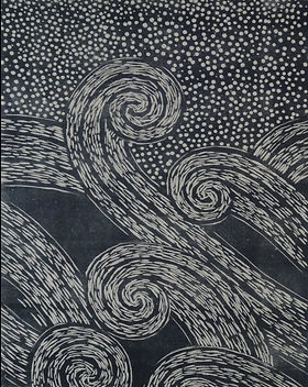 Amanda Donohue woodcut print