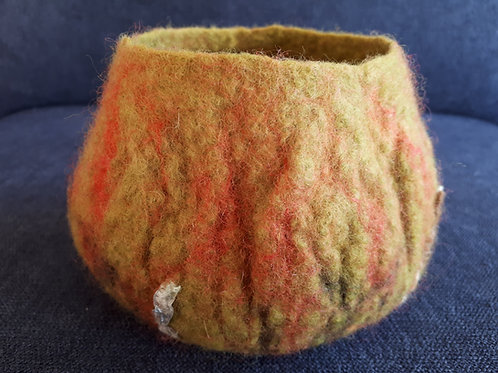 Green Felted Bowl