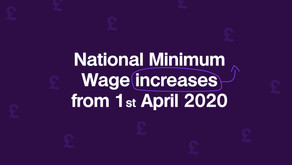 National Minimum Wage increases from 1st April 2020