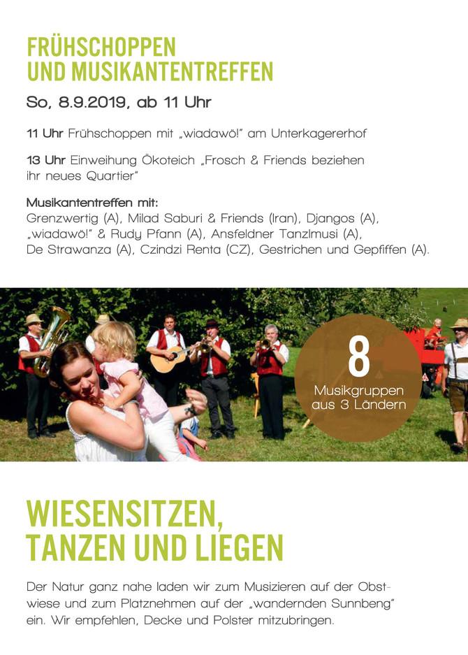 23. Unterkagerer sunnseitn Zur Entschleunigung von Mensch und Landschaft    Frühschoppen und Musikan