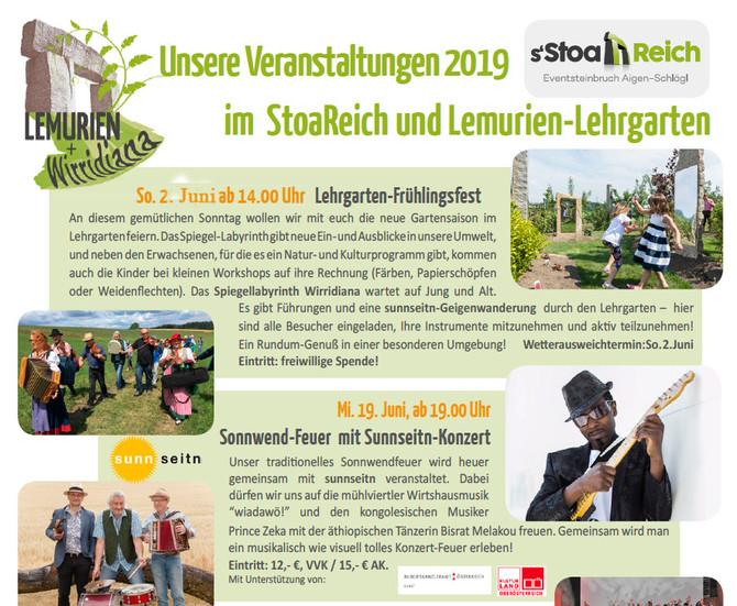 sunnseitn zu Gast im Lemurien Biogarten und Kultursteinbruch in Aigen Schlägl