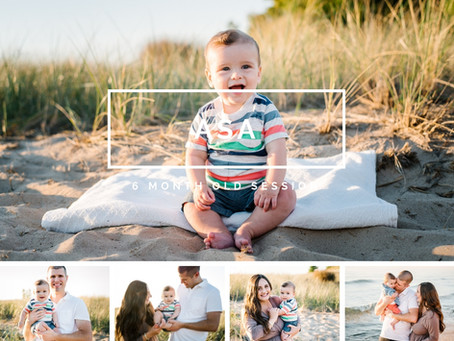 SIX MONTH OLD BEACH SESSION