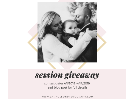 FREE Photo Session Giveaway with Cara Olson Photography