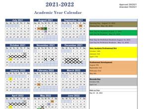 Spencer County Education Calendar 2021-22