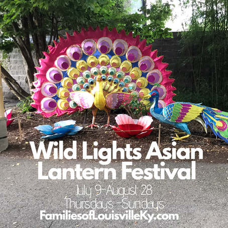 Wild Lights Asian Lantern Festival at The Louisville Zoo