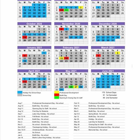 Bullitt County Education Calendar 2020-2021