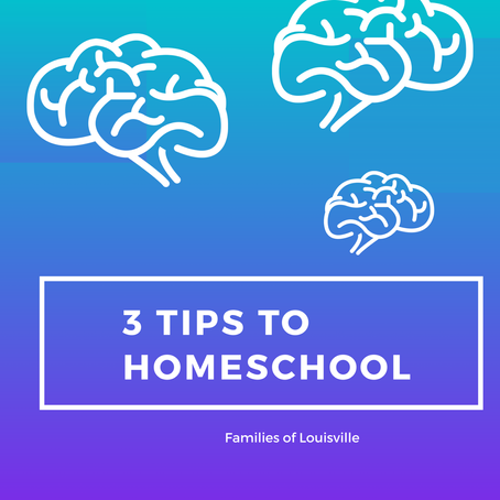 3 Tips to help with Homeschooling