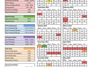 Jefferson County Catholic School Calendar 2021-22