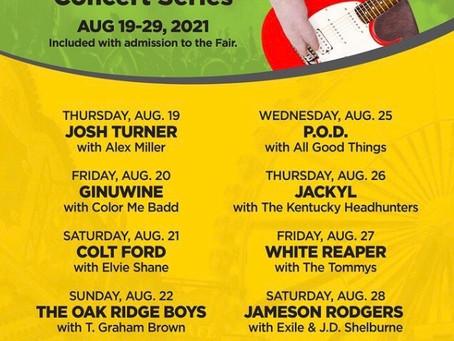 Kentucky State Fair Announces Concert Series 2021