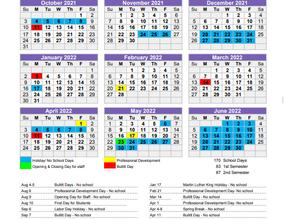Bullitt County Education Calendar 2021-22
