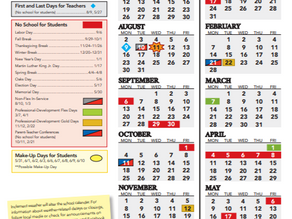 JCPS Education Calendar 2021-22